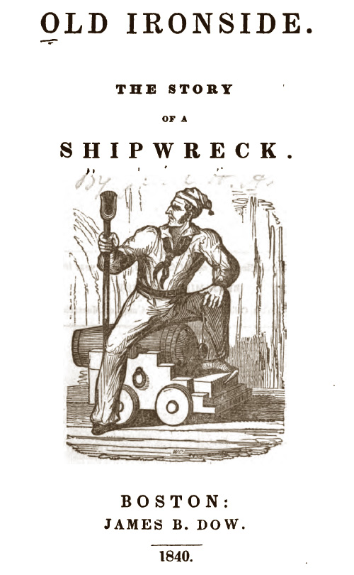 Old Ironside: the story of a shipwreck title page