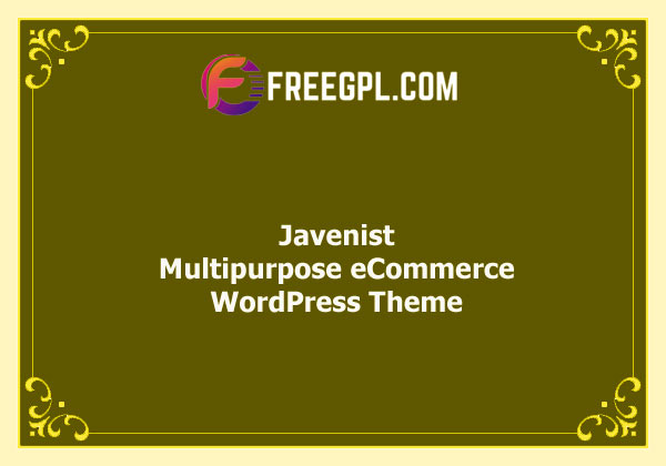 Javenist – Multipurpose eCommerce WordPress Theme Nulled Download Free
