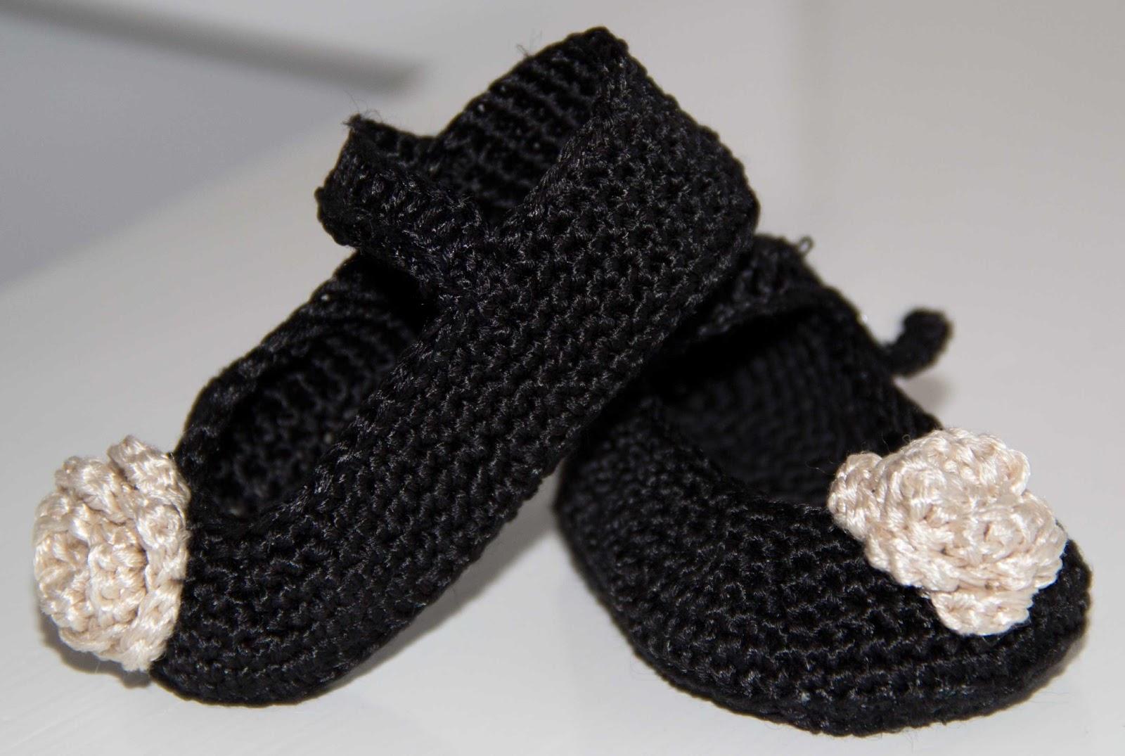 virkade skor baby tofflor
