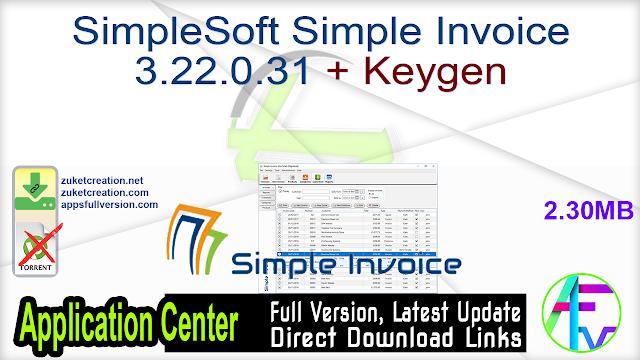 SimpleSoft Simple Invoice 3.22.0.31 + Keygen