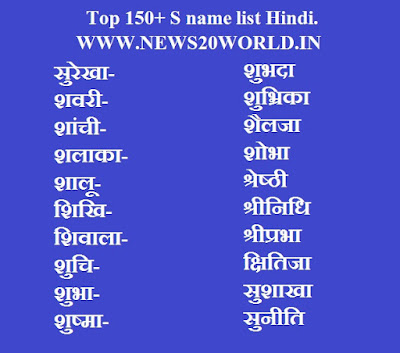 hindu girl names starting with s