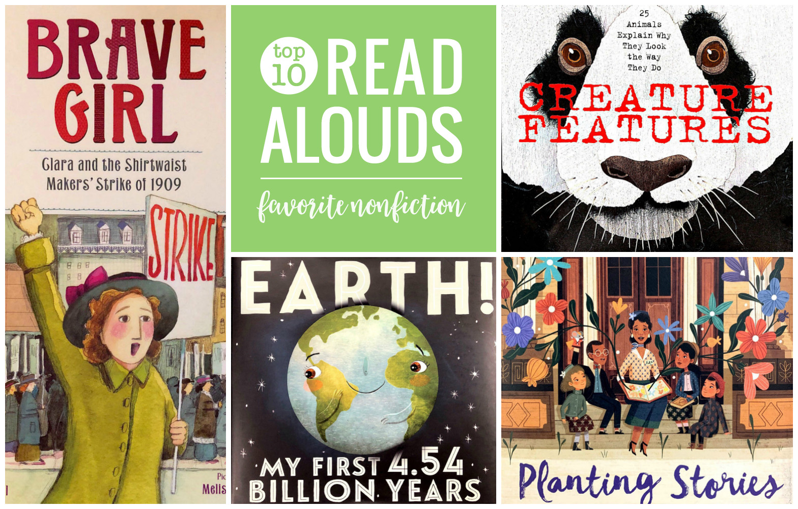 Looking for new favorite picture book read alouds? Don't forget to include nonfiction books, too! Take a look a 10 favorite nonfiction picture book picks from our classroom book a day reads.
