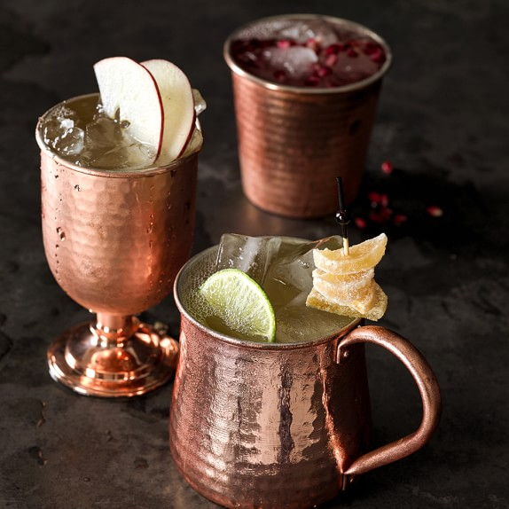 Williams Sonoma Hammered Copper Cup