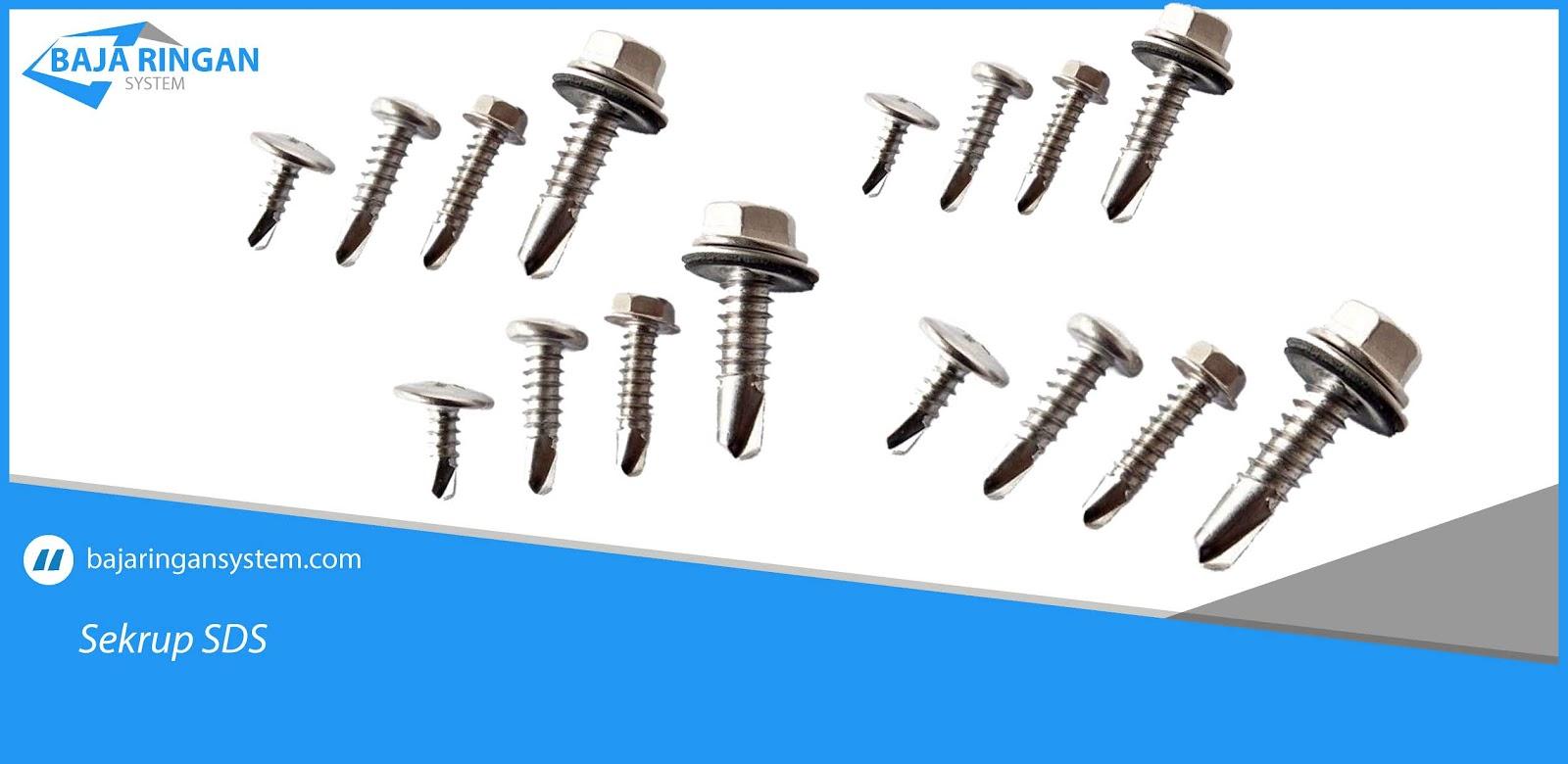 pemasangan sekrup baja ringan yang sering digunakan system