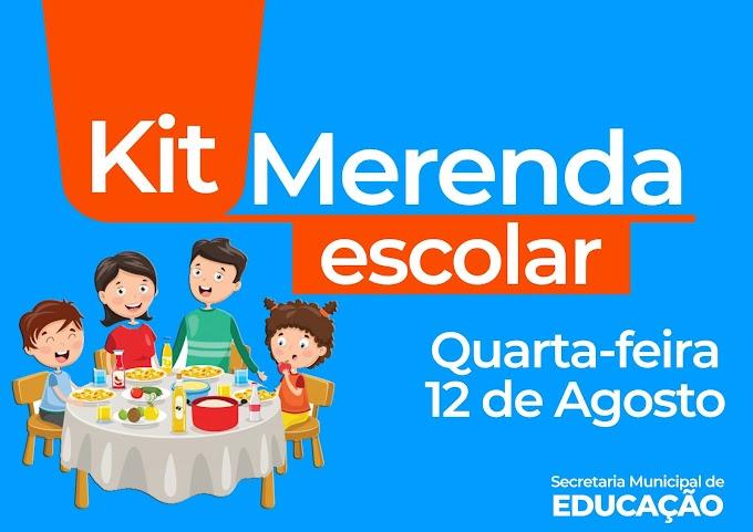 Secretaria de Educação de Amparo realizará nova etapa de entrega de Kit Merenda na próxima semana