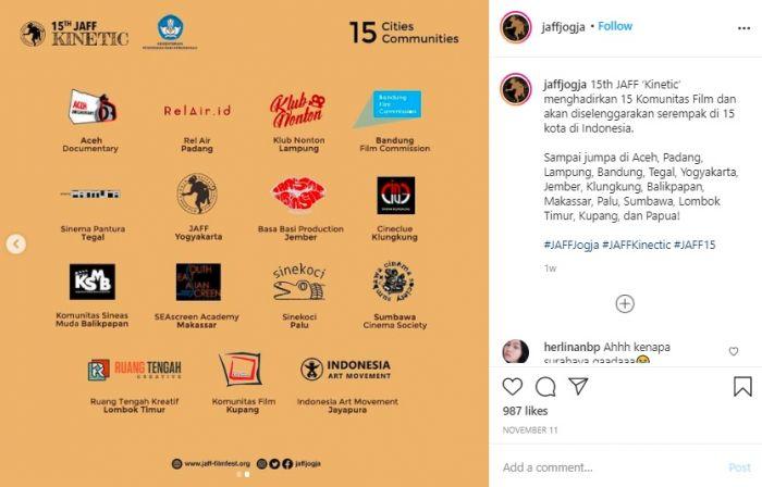 Postingan Instagram Akun Jaff