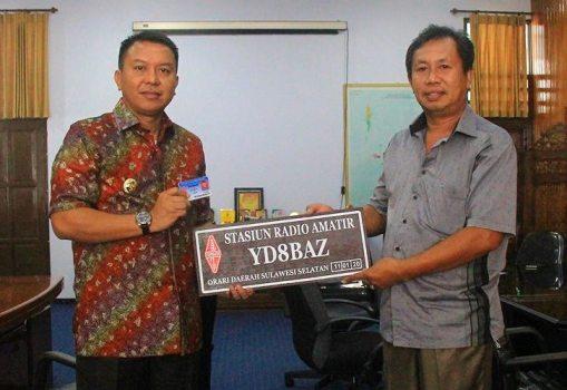 Ketua Orari Lokal Selayar, Serahkan IAR Ke Bupati