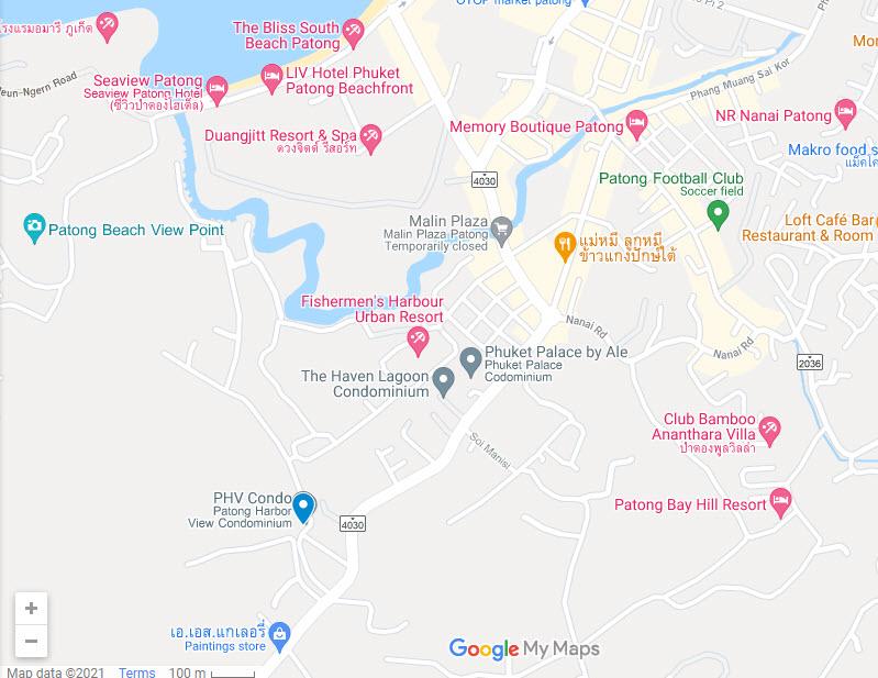 Patong Harbor View Map