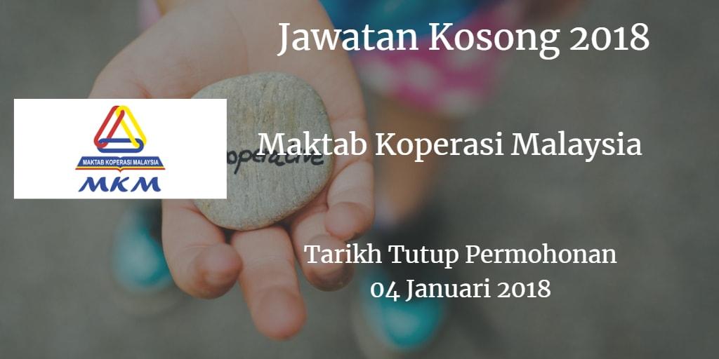 Jawatan Kosong MKM 04 Januari 2018
