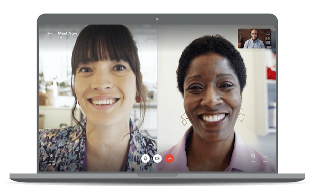 Skype allows video chat without logging in or downloading the program