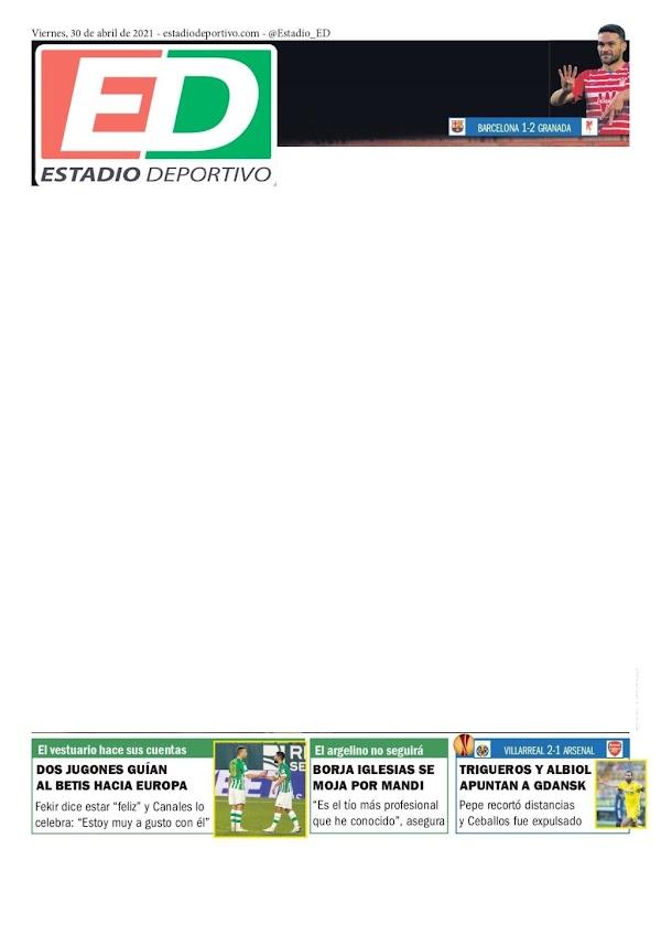 """Betis, Estadio Deportivo: """"Dos jugones guían al Betis a Europa"""""""