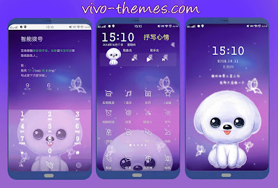 Purple Puppy Theme for Vivo Smartphone
