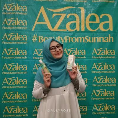 Azalea Zaitun Oil with Rosehip Oil dan Azalea Intensive Skin White Hydrogel