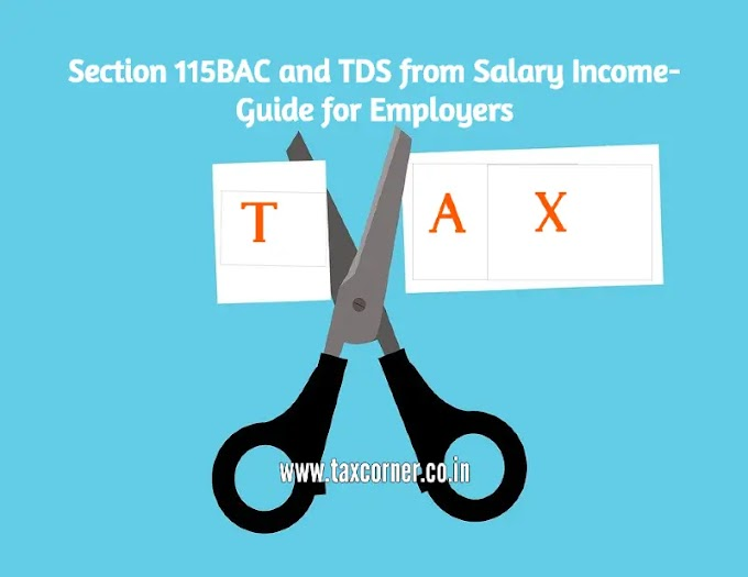 Section 115BAC and TDS from Salary Income-Guide for Employers