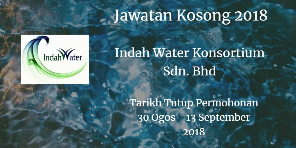 Jawatan Kosong Indah Water Konsortium Sdn. Bhd  30 Ogos - 13 September 2018