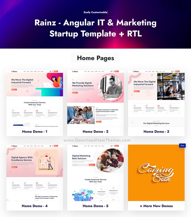 IT & Marketing Startup Template