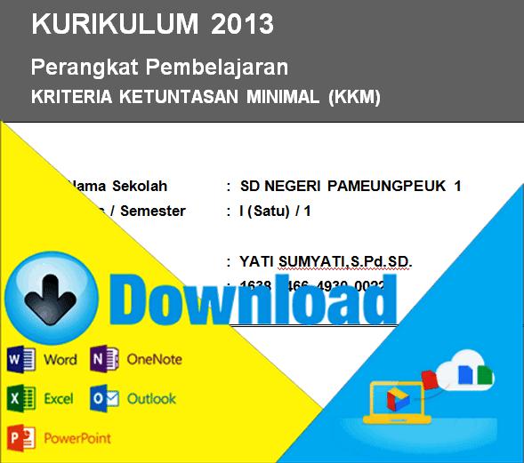 Download Kriteria Ketuntasan Minimal Kkm Kurikulum 2013 Kelas 1 Sd Semester 1 Amp 2 File Sekolah