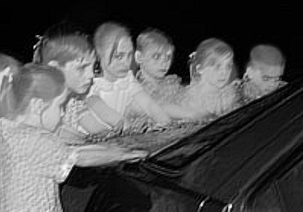 Image result for ghost children handprints on car
