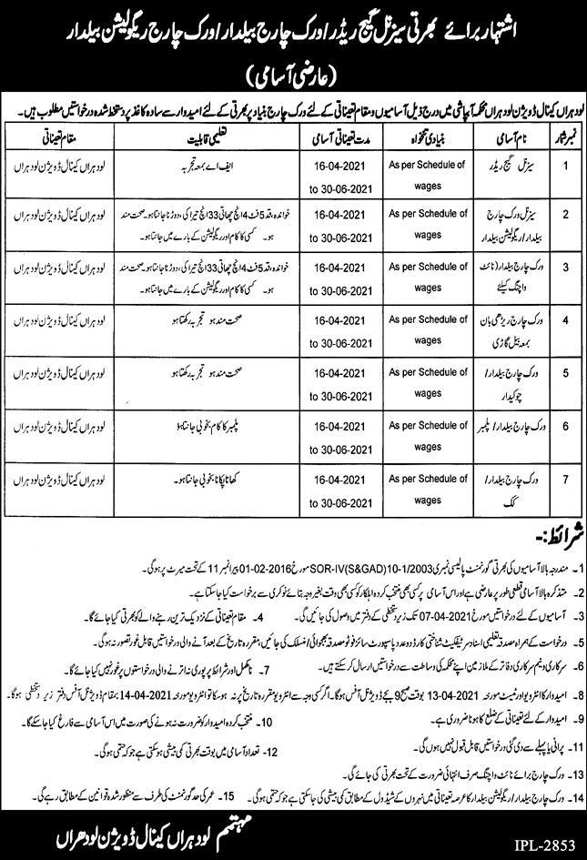 Canal Division Management Jobs 2021