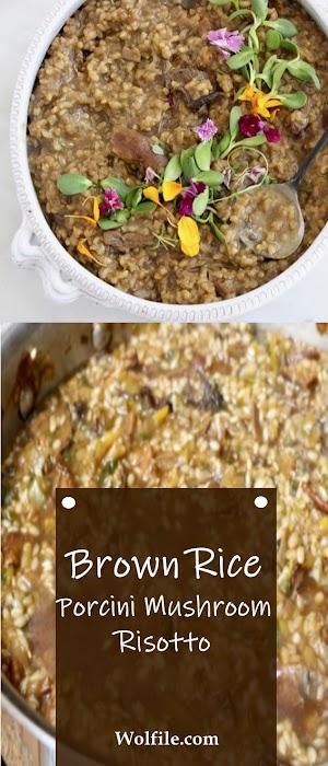 Brown Rice Porcini Mushroom Risotto Recipe