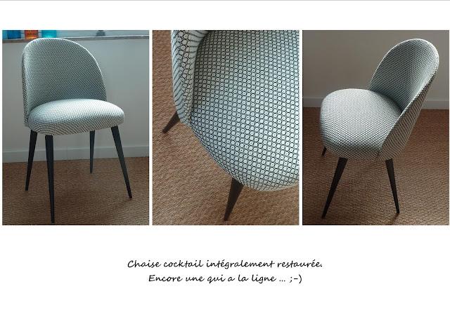 Chaise vintage  noir et blanc