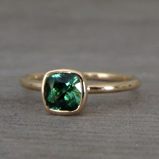 tourmaline ring gold