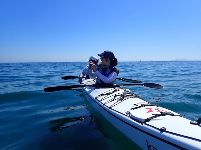 Taking a photo from a kayak