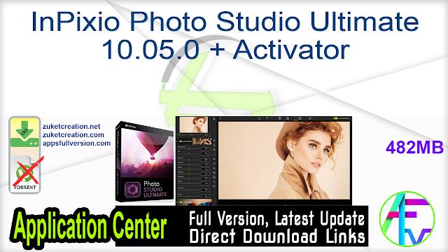 InPixio Photo Studio Ultimate 10.05.0 + Activator