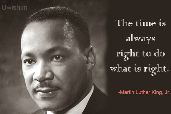 Motivational e greeting cards and wishes, quotes by Martin Luther King Jr about time.
