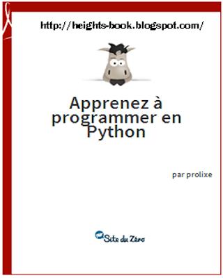 Télécharger Livre Gratuit Apprenez à programmer en python pdf