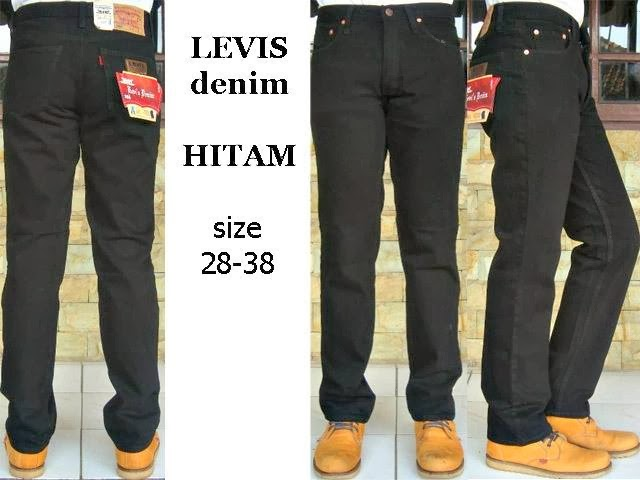 Levi's Jeans Standar Hitam Pekat