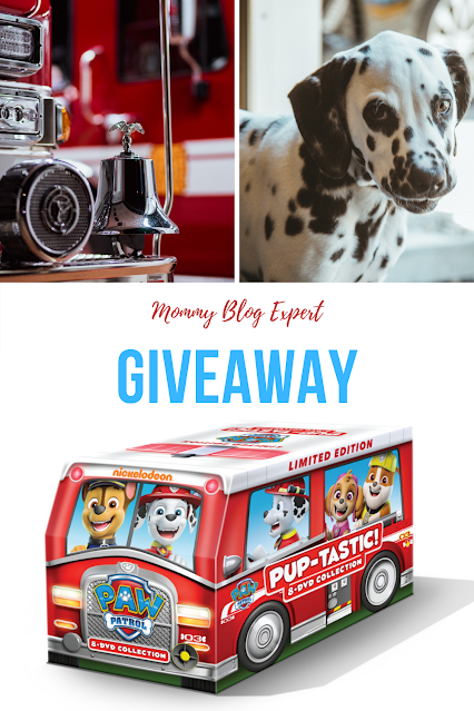 Paw Patrol Giveaway Puptastic Fire Truck DVD Set