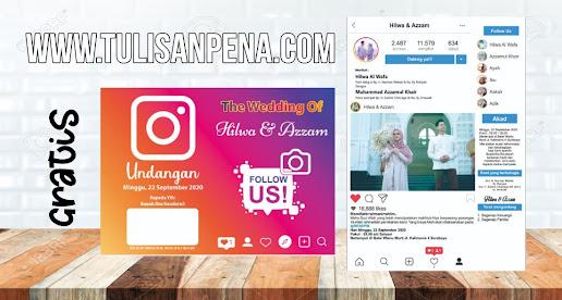 Template Undangan Instagram