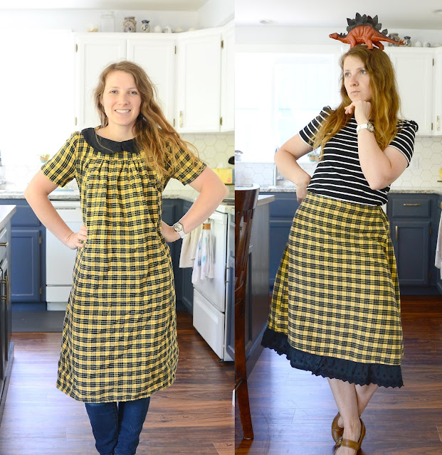 a refashion challenge turn a dress into a skirt tutorial