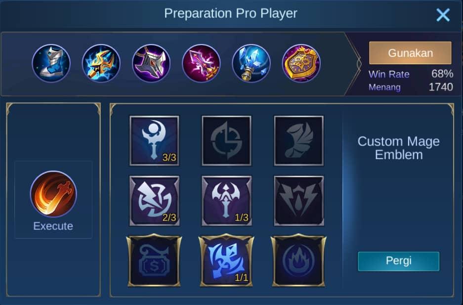 build item kadita mobile legends (ML)