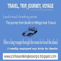Diferença entre Travel, Trip, Journey e Voyage, Inglês, Dicas de Inglês, Palavras confusas inglês, Inglês Avançado, Inglês para Brasileiros,