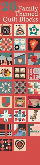 family themed quilt blocks for octobers quilt block mania