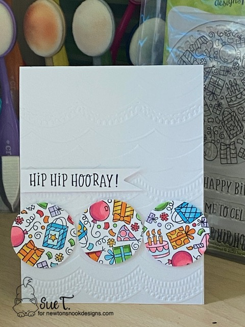 Hip Hip Hooray by Sue T. features Birthday Roundabout by Newton's Nook Designs; #newtonsnook