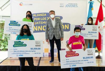 Nestlé presenta a los 4 ganadores del Innovatón
