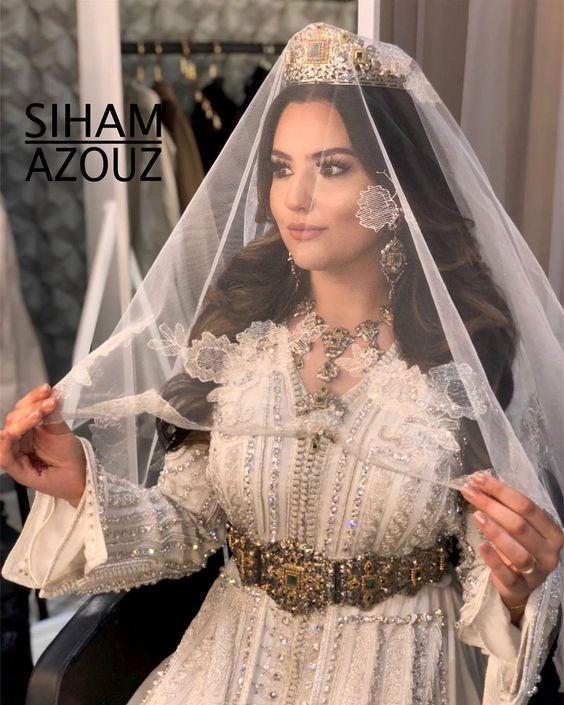 caftan mariage blanc perlé 2019 paris