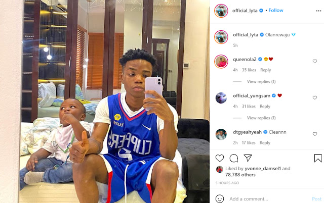 Lyta shares photo of his son days after reuniting with his babymama
