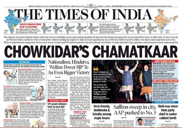 Times of India Modi