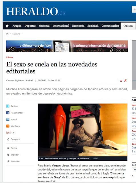 Heraldo de Aragón | El sexo se cuela en las novedades editoriales