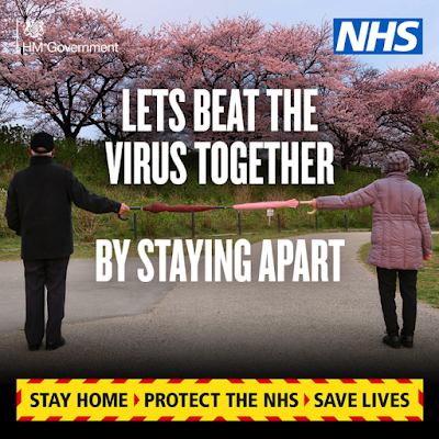 Beat the virus by staying apart UK Government advice