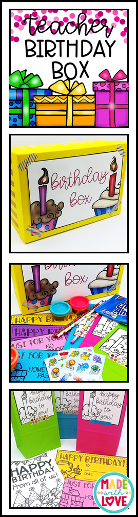 https://www.teacherspayteachers.com/Product/Teacher-Birthday-Box-3301675