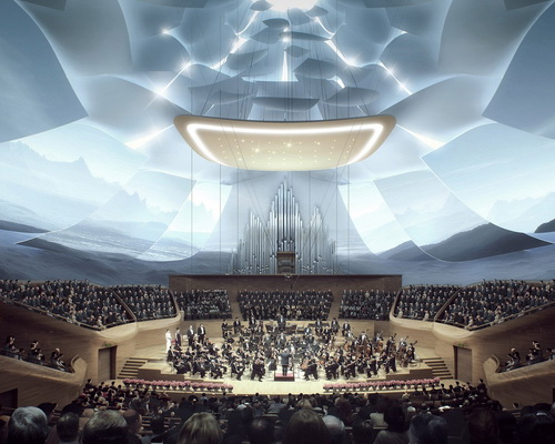 Tinuku.com MAD Architects shows facade jade and lotus flowers design China Philharmonic Hall in Beijing
