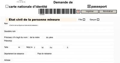 Comment Remplir Formulaire Carte D'identité En France ~ COMMENT REMPLIR