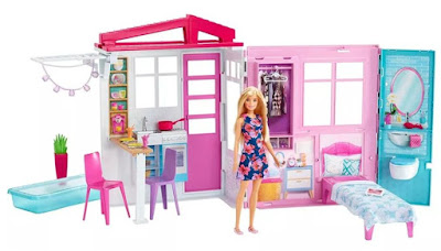 Barbie House & Doll Fold and Go 2019