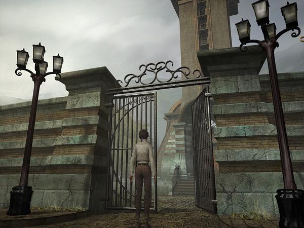 открытые ворота для прохода в церковь в игре сибирь