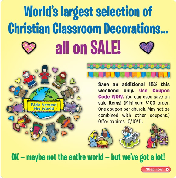 This Weekend Only: Children's Ministry Blog: SAVE On Classroom Decorations